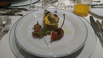 Überbackene Austern. Thalasso Menü