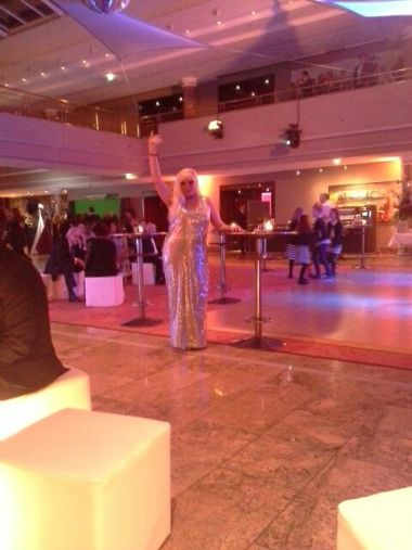 Silvester 2016 in Grand Elysee Hotel in Hamburg.Natalia Eitelbach.